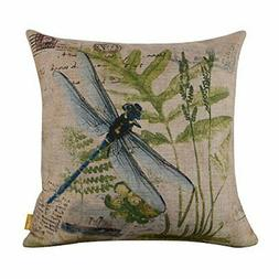 LINKWELL 4545cm Retro Vintage Green Paris Country Dragonfly