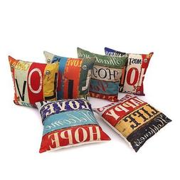 Love Hope Series Decorative Cushion Cover Square Cute Throw
