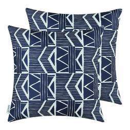 Navy Blue Throw Pillow Covers - Southwest Modern, CaliTime 1