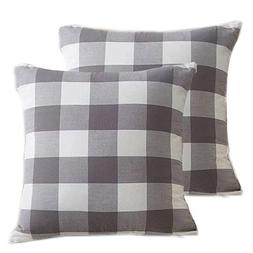 Pack Of 2,Buffalo Checker Plaids Cotton Soft And Comfortable