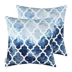 Pack of 2 CaliTime Silky Throw Pillow Covers Cases for Couch