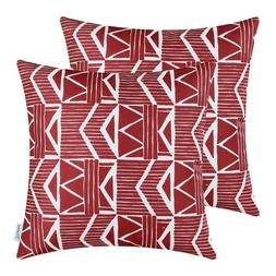 Red Southwest Modern, CaliTime Throw Pillow Covers 18x18, Pa