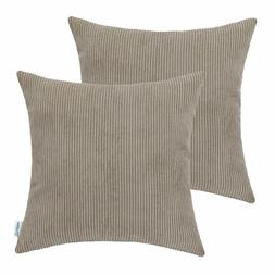 Set of 2 CaliTime Throw Pillow Covers Cases Couch Bed Sofa T