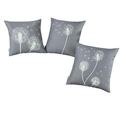 Set of 3, CaliTime Soft Canvas Throw Pillow Covers Cases for