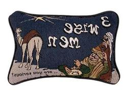 "Simply Home 12"" Three Wise Men Decorative Christmas Tapestry"