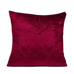 The White Petals- Burgundy Velvet Throw Pillows Cover