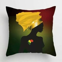 Throw pillows African queen throw pillow case africa black