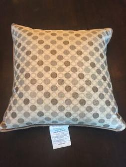 "Toss Pillow 17"" x 17"" x 5"" Brown Beige Circles Solid Tan Out"
