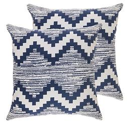 TreeWool,  Throw Pillow Covers Ikat Chevron Accent Decorativ