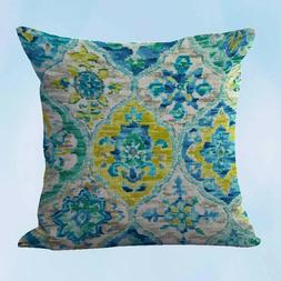 US Seller- modern throw pillow covers ikat accent cushion co