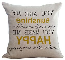 Wisdom Words Printed Cushion Cover LivebyCare Linen Cotton C