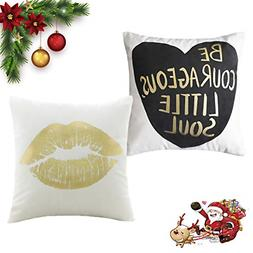 HOME BRILLIANT Accent Pillows for Bench Gold Decorative Thro