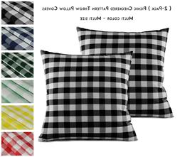 Aiking Home  Picnic Checkered Decorative Throw Pillow Covers