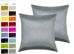 Aiking Home Solid Faux Silk Decorative Pillow Cover
