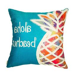 Fahrendom Aloha Beaches Watercolor Pineapple Funny Quote Sea