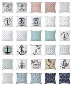 Anchor Throw Pillow Cases Cushion Covers by Ambesonne Home D