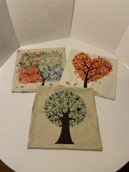 "HOSL Autumn Love, Set Of 3. 18""x18"" Pillow Covers, New"