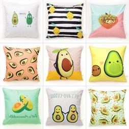 Avocado pattern Throw Pillow Case Flannelette Decorative Pil