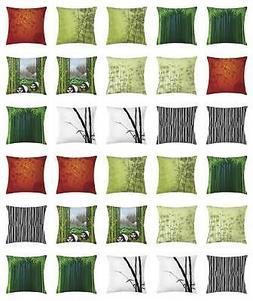 Bamboo Throw Pillow Cases Cushion Covers by Ambesonne Home D