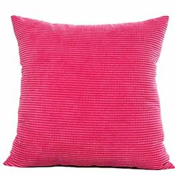 Mikey Store Bed Home Decor Throw Pillows Striped Velvet Cush