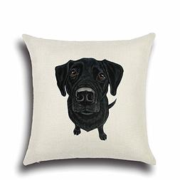 Acelive Black Labrador Retriever Pattern Elegant Throw Pillo