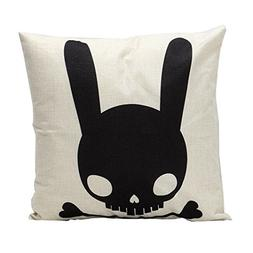 Black Skull Rabbit,GBSELL Sofa Bed Home Decor Pillow Case Cu