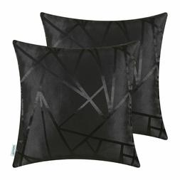 Black Throw Pillow Covers - Modern Contrast Abstract, Caliti
