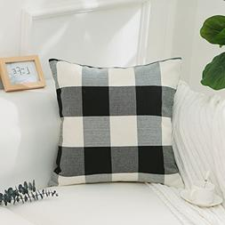 HOME BRILLIANT Black and White Buffalo Checkered Plaids Farm