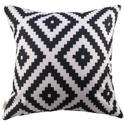 HOSL Geometry Cotton Linen Decorative Throw Pillow Cover Cus