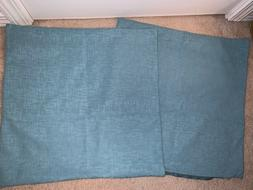 Kevin Textile Blue Textured Throw Zippered Pillow Covers 20i