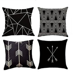 MOCOFO Decorative Throw Pillow Covers Set of 4 Cotton Linen
