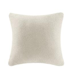 "INK+IVY Bree Knit Square Pillow Cover, 20 x 20"", Ivory"
