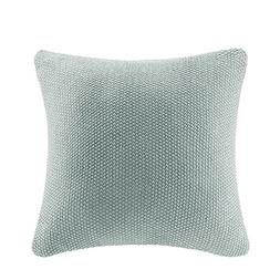 Ink+Ivy Bree Knit Square Pillow Cover Aqua 20x20