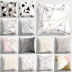 Brief Marble Geometric Sofa Decorative Cushion Cover <font><