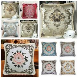Brocade Vintage European Jacquard Throw PILLOW COVER Luxury