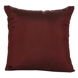 The White Petals Set of 2 Burgundy Art Silk Pillow Covers, P