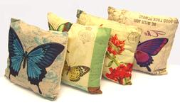 "Butterfly Decorative Throw  Pillow Cushion Sofa / Bed - 16""X"