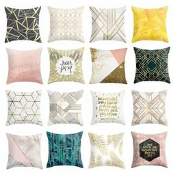 Buy 2 Get 1 Free,Geometric Polyester Throw Cushion Cover Sof