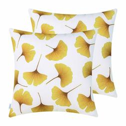 CaliTime Pack of 2 Throw Pillow Covers Cases  18 x 18