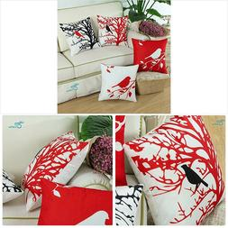 CaliTime Set of 4 Soft Canvas Throw Pillow Covers Cases Couc