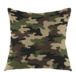 oFloral Camouflage Pattern Military Backgound Throw Pillow C