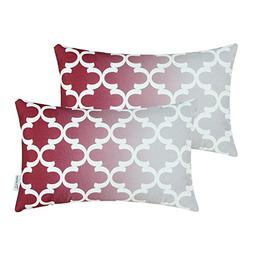 CaliTime Pack of 2 Canvas Bolster Pillow Covers Cases for Co