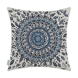 CaliTime Canvas Throw Pillow Cover Case Couch Sofa Home Deco