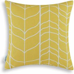 CaliTime Canvas Throw Pillow Cover for Couch, Sofa, Home Dec