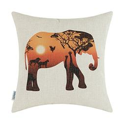 CaliTime Canvas Throw Pillow Cover Shell for Couch Sofa Home