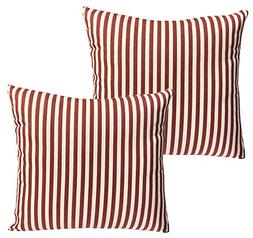 Casual Striped Cotton & Linen Decor Pillow Cases,18 Inch by