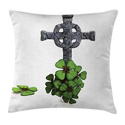 Ambesonne Celtic Throw Pillow Cushion Cover, Celtic Knot Pat