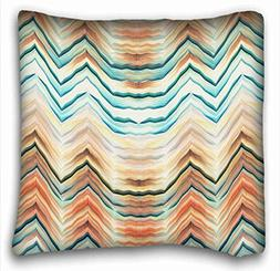 Tarolo Chevron Gradient Wave Tribal Striped Geometric Pillow