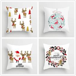 Christmas Cushion Cover Merry Christmas Decoration Pillowcas