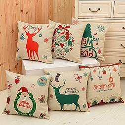 christmas decorations throw pillow case